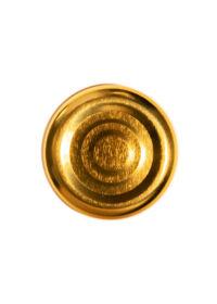 TO 38 (x12 mm) arany vákumgombos szörpösüveg lapka