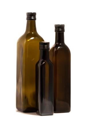 '1000 ml PP 31,5 MARASHKA oliva zöld olajosüveg