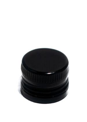 PP 31,5x24 fekete előrementelt olajos csavarzár műanyag kiöntővel