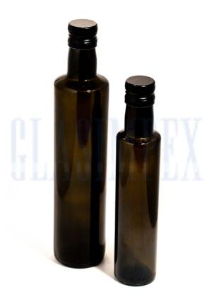 Dorica oliva zöld olajosüvegek