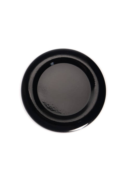 TO 38 (x12 mm) fekete szörpösüveg lapka