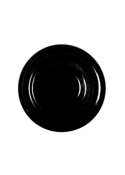 TO 38 (x9,6 mm) fekete szörpösüveg lapka