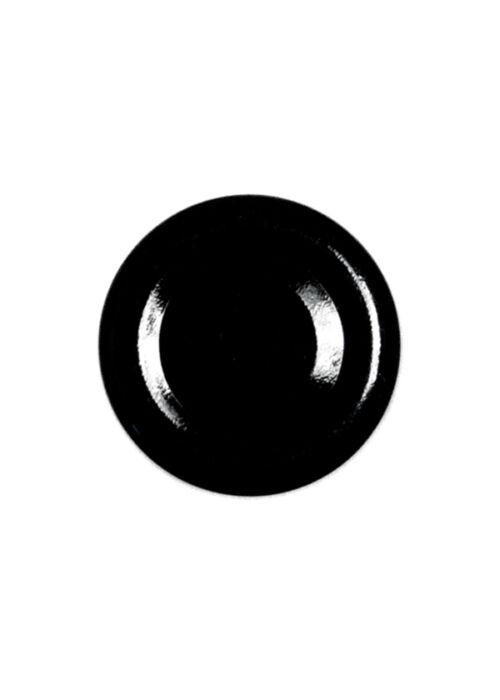 TO 38 (x12 mm) fekete vákumos szörpösüveg lapka